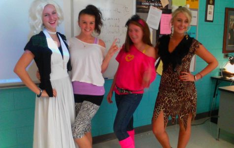 Students and faculty dress for Homecoming spirit week