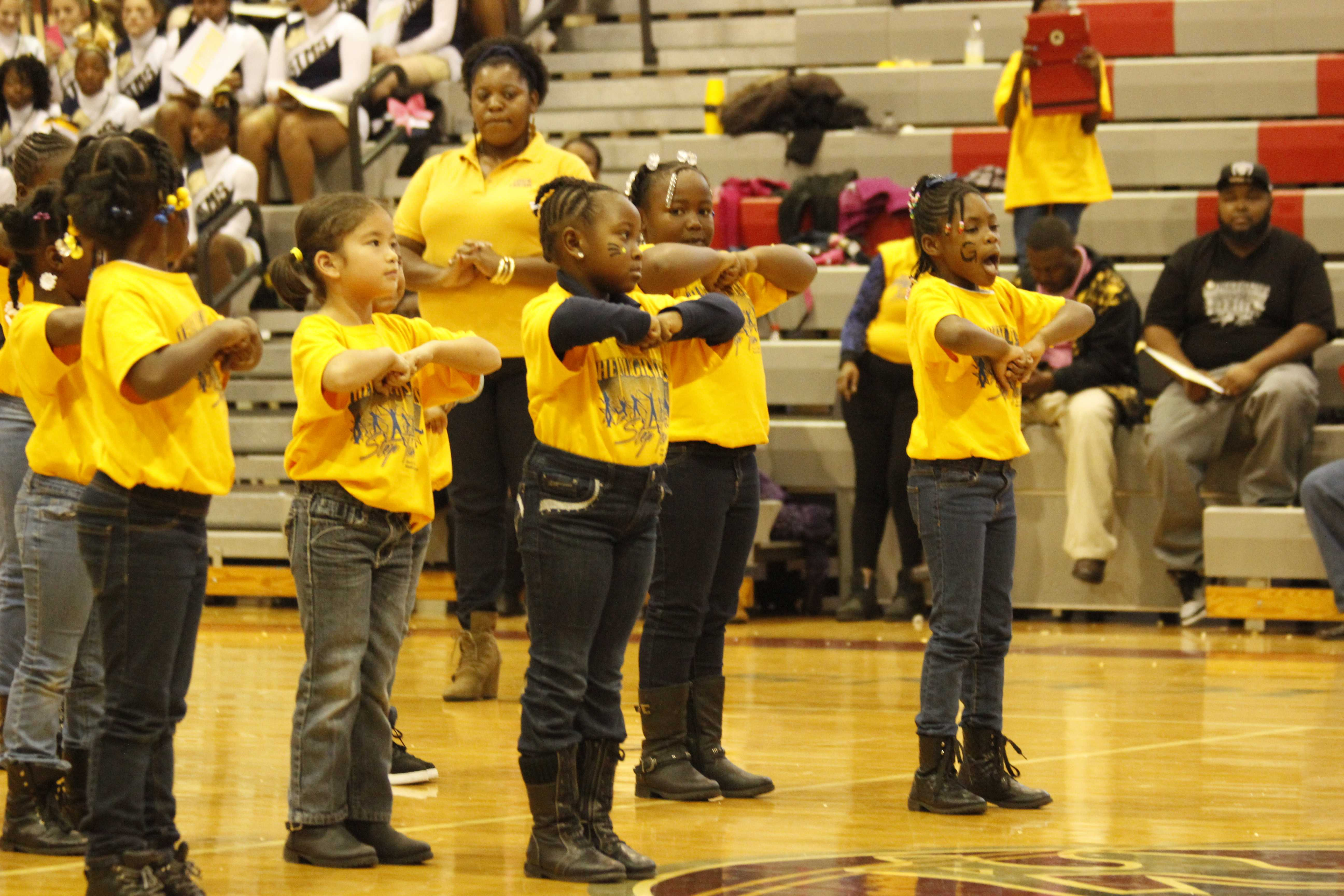 The mighty star steppers perform a dance at Cheer for Children.