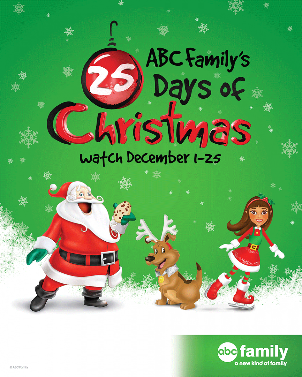 abc familys 25 days of christmas schedule