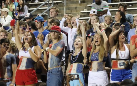 South Pointe's student section cheers at the game against Rock Hill.