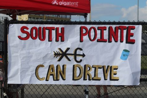 South Pointe's Cross Country Team Hosts Canned Food Drive
