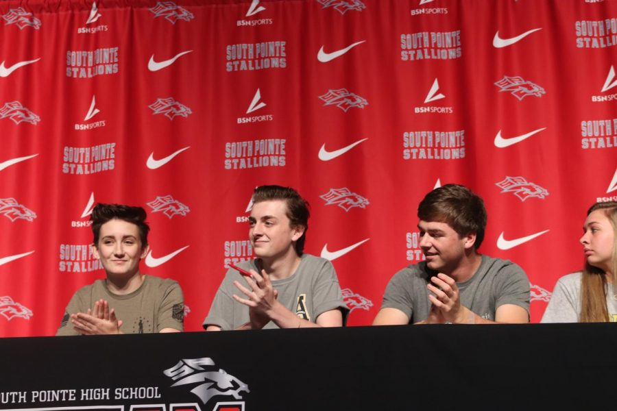 Emily Tenant, Ayden Tauzel, and Michael Ellenburg sign to the Army, App. State, and Anderson.