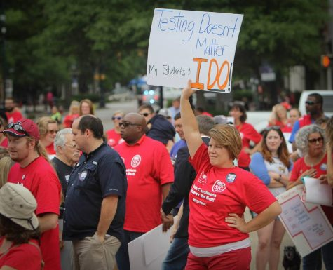 South Carolina teachers rally at the State House. ASHLEN RENNER-THE STATE NEWSPAPER